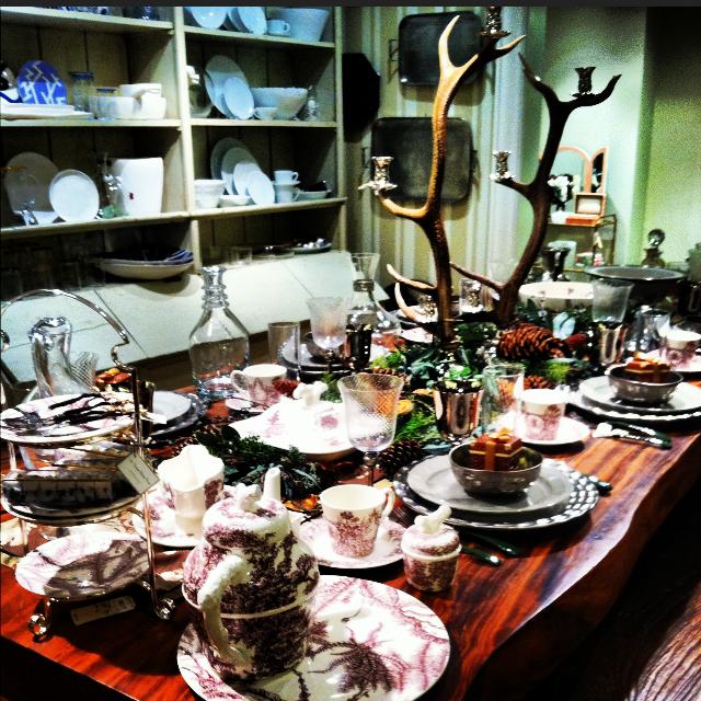 pretty table at Bergdorfs