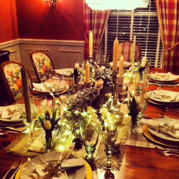 table at wintry feast