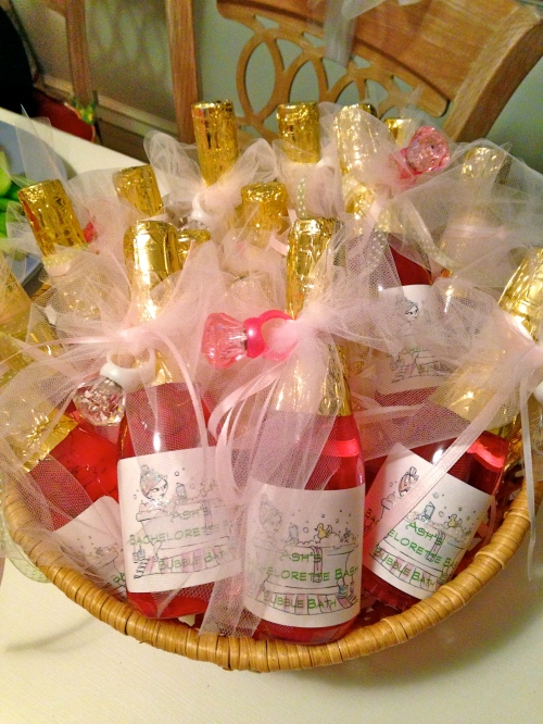 bubble bath party favors