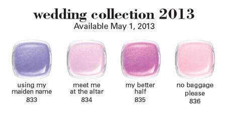 essie wedding collection